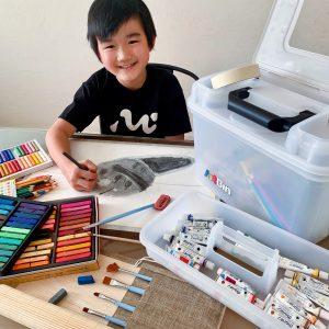 complete art supply kit